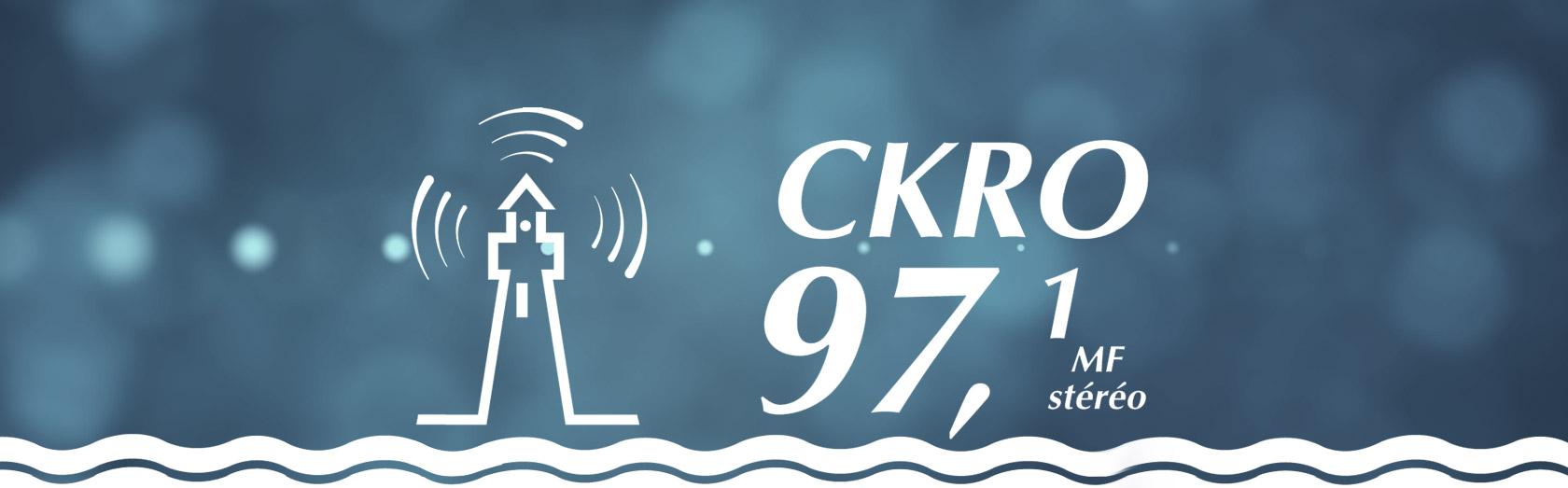 Le logo de CKRO FM 97,1 - La radio au coeur de la péninsule
